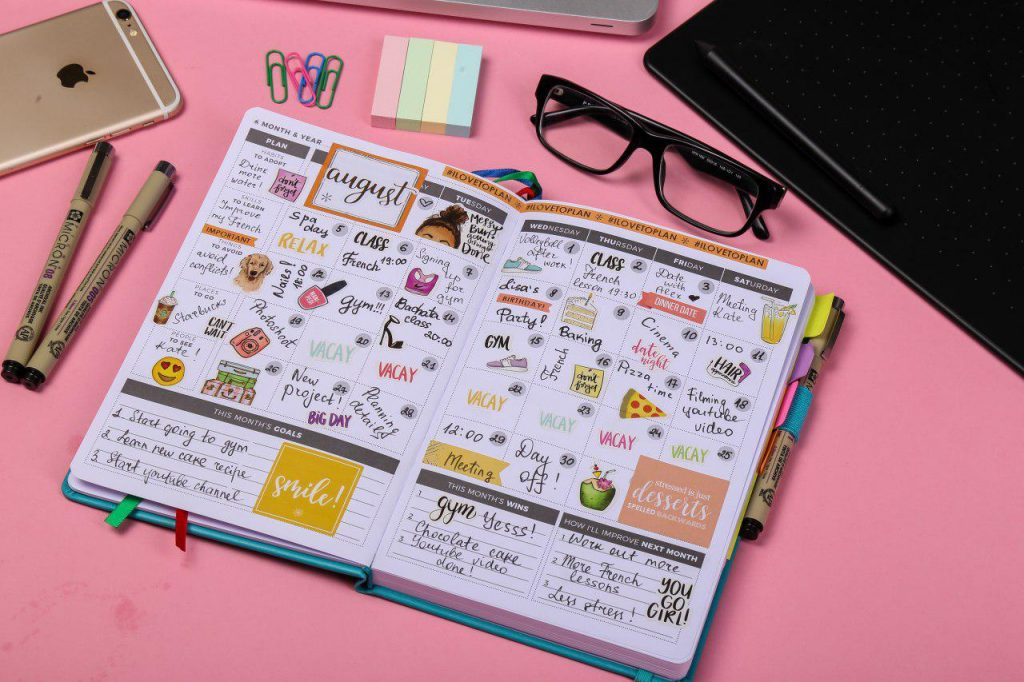 Clever Fox planner with stickers