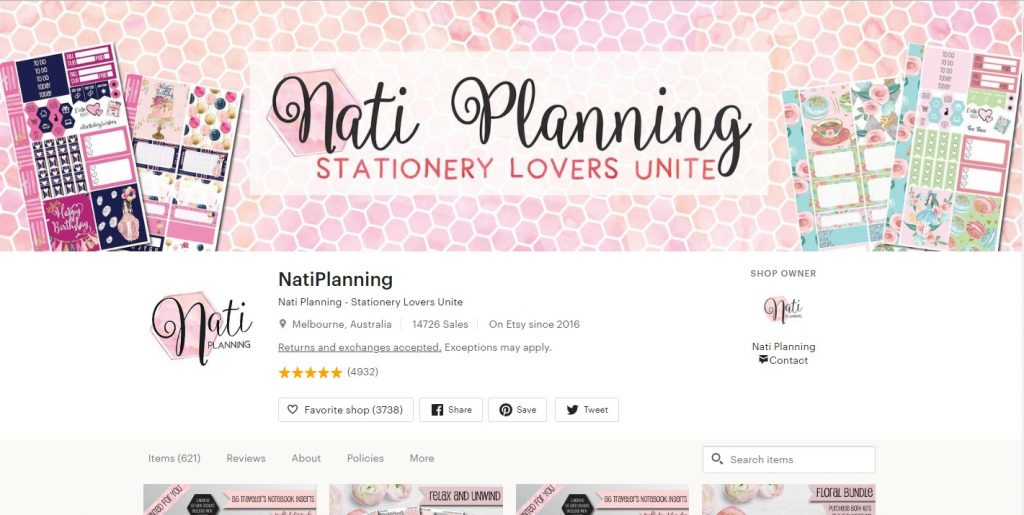 NatiPlanning – Cotton Candy Planner Stickers
