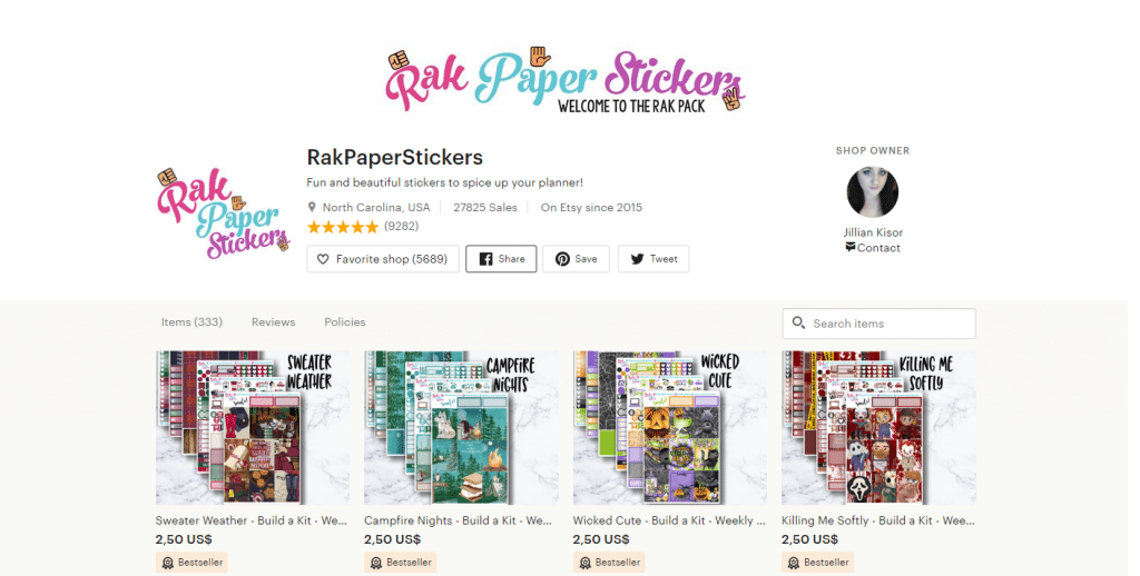 RakPaperStickers – Best of RPS Sampler – Purple