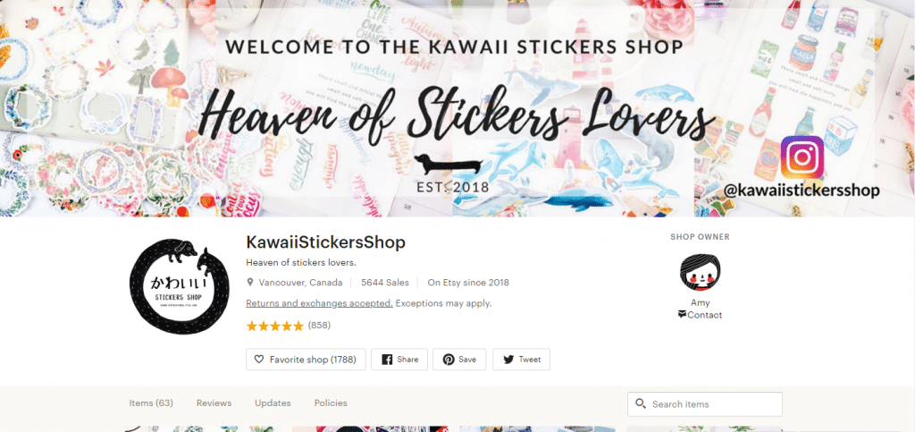 KawaiiStickersShop – Girl Power Popular Sticker Pack