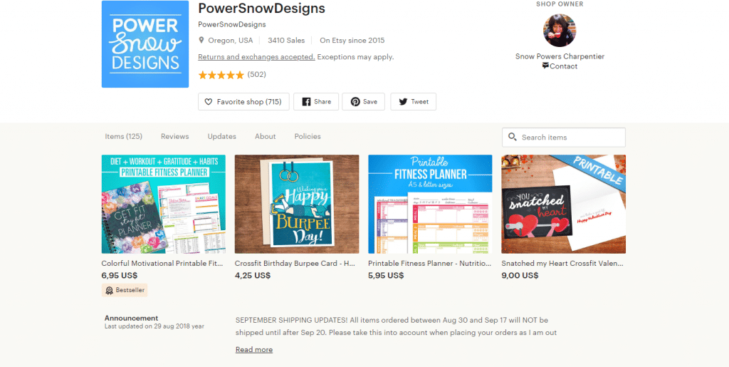 PowerSnowDesigns's Digital Fitness Journal - Printable