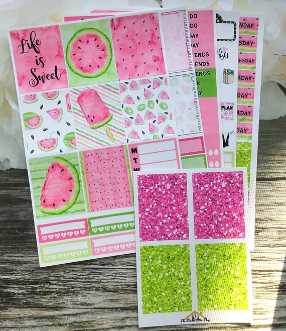 TheStickerAtticShop – Watermelon Planner Sticker Kit
