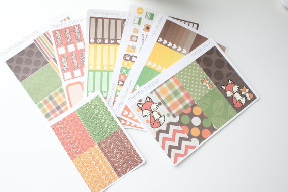 TerrificPlanner – Hello, Mr. Fox Autumn Weekly Planner Sticker Kit