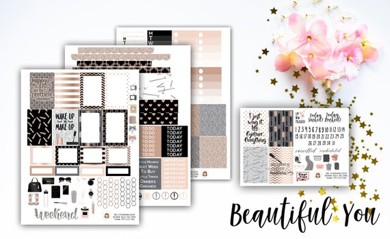 LittlePixiePaperie Beautiful You Weekly Planner Stickers Kit