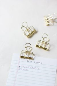 Gold Large Metal Wire Binder Clips