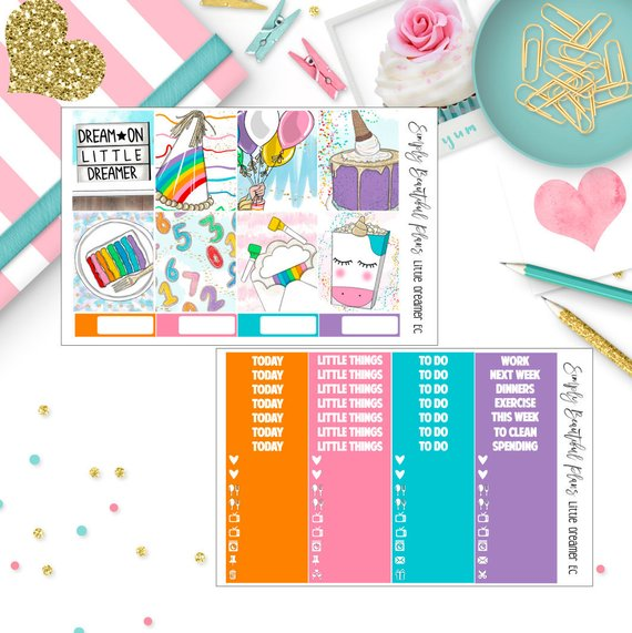 SimplyBeautifulPlans – FallDreams Full Planner Sticker Kit