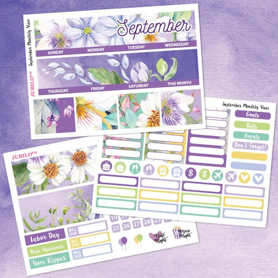PlannerStickerJublio – Monthly Themed Stickers