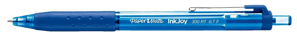 Paper Mate InkJoy 300RT Retractable Ballpoint Pens pens for nursing, Fine Point, Blue, Box of 12 (1951359)