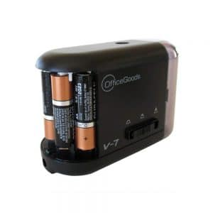 OfficeGoods Electric & Battery Operated Pencil Sharpener - Compact, Reliable, Fast & Quiet - for Home, Office & School - It Sharpens Evenly Every Time to Give You The Perfect Point (Black)