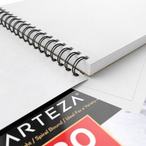 ARTEZA 9X12 Drawing Pad, Pack of 2, 160 Sheets (80lb/130g), Spiral Bound Artist Drawing Books, 80 Sheets Each, Durable Acid Free Drawing Best Papers for Colored Pencils, Ideal for Kids & Adults, Bright White