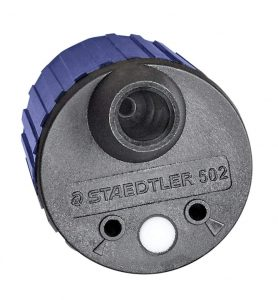 STAEDTLER 502 BK A6 Mars Rotary Action Lead Pointer and Tub for 2mm Leads, 502BKA6