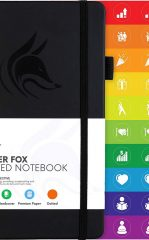 Clever Fox Dotted Notebook for Work color black