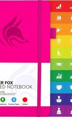 Clever Fox Dotted Notebook for Work color hot pink