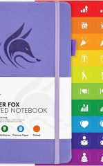 Clever Fox Dotted Notebook for Work color lavender