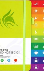 Clever Fox Dotted Notebook for Work color neon yellow