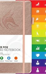 Clever Fox Dotted Notebook for Work color rose gold