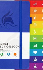 Clever Fox Dotted Notebook for Work color royal blue