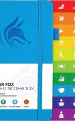 Clever Fox Dotted Notebook for Work color sky blue