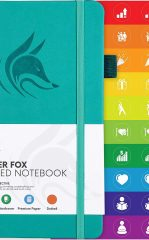 Clever Fox Dotted Notebook for Work color turquoise