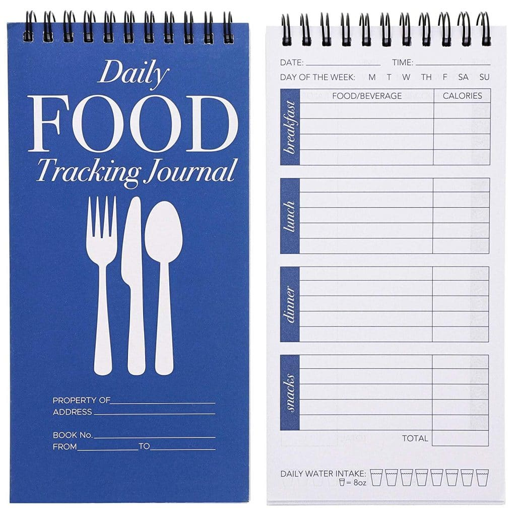 12-Pack Daily Food Intake Diary Tracker Journal Notebook