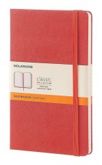 Moleskine Classic Notebook for Work color coral orange
