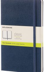 Moleskine Classic Notebook for Work color sapphire blue