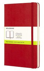 Moleskine Classic Notebook for Work color scarlet red
