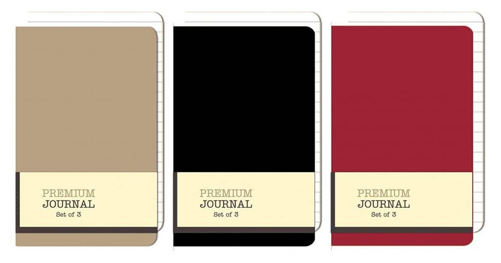 Personal Premium Journals, Pack of 9 Notepads 3.5in x 5.5in - Solid Color Lined Stationery Notebooks (Multi)