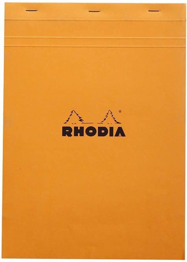Rhodia Staplebound Notepads - Graph 80 sheets - 8 1/4 x 11 3/4 in. - Orange cover
