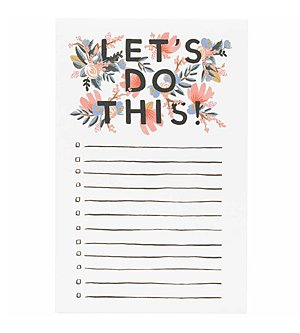 """Rifle Paper Co. """"Let's Do This"""" Notepad"""