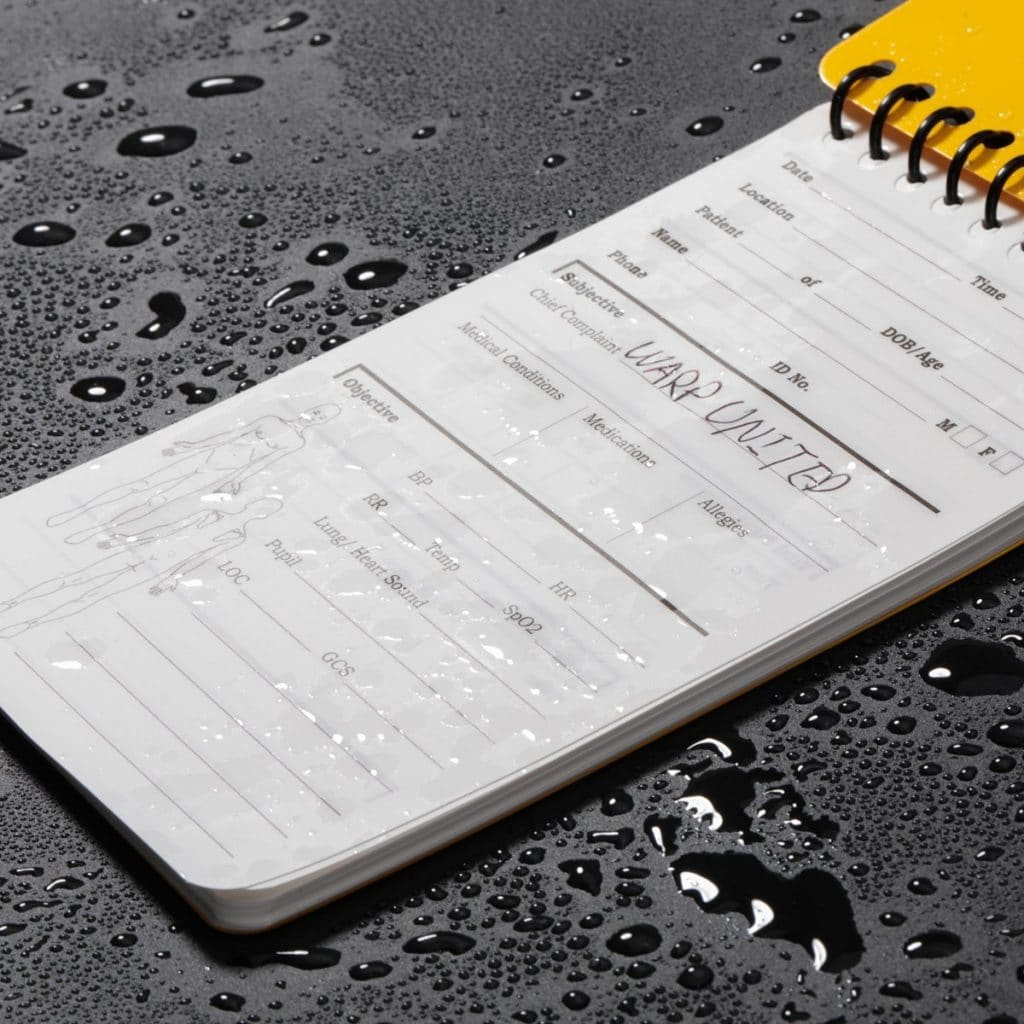 5-Pack Full Waterproof EMT Point of Care SOAP Note Notepad