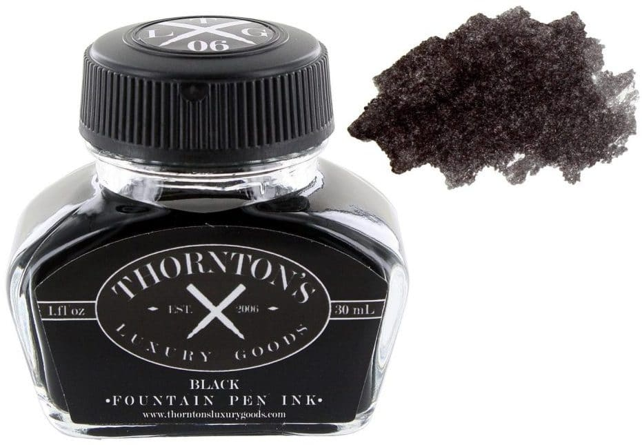 best black fountain pen ink for cheap paper