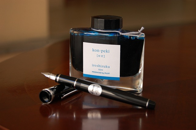 best blue fountain pen ink for cheap paper