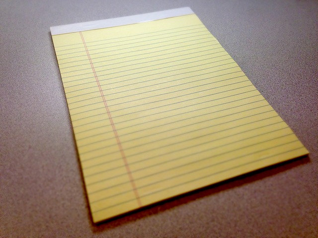 yellow legal writing pads