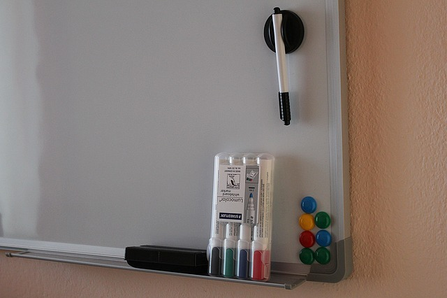 whiteboard with a permanent marker